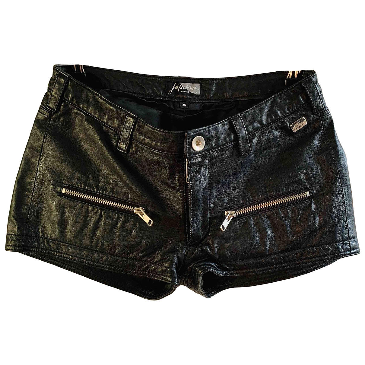 Jofama \N Shorts in  Schwarz Leder