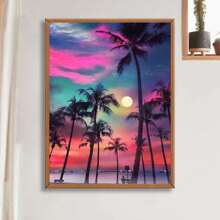 Coconut Tree Print DIY Diamond Painting Without Frame