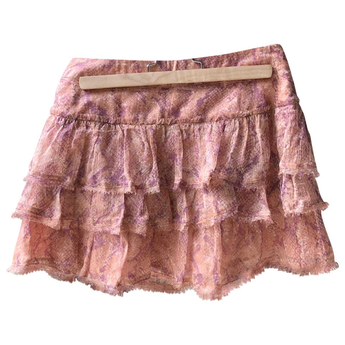 Zadig & Voltaire - Jupe   pour femme en soie - rose