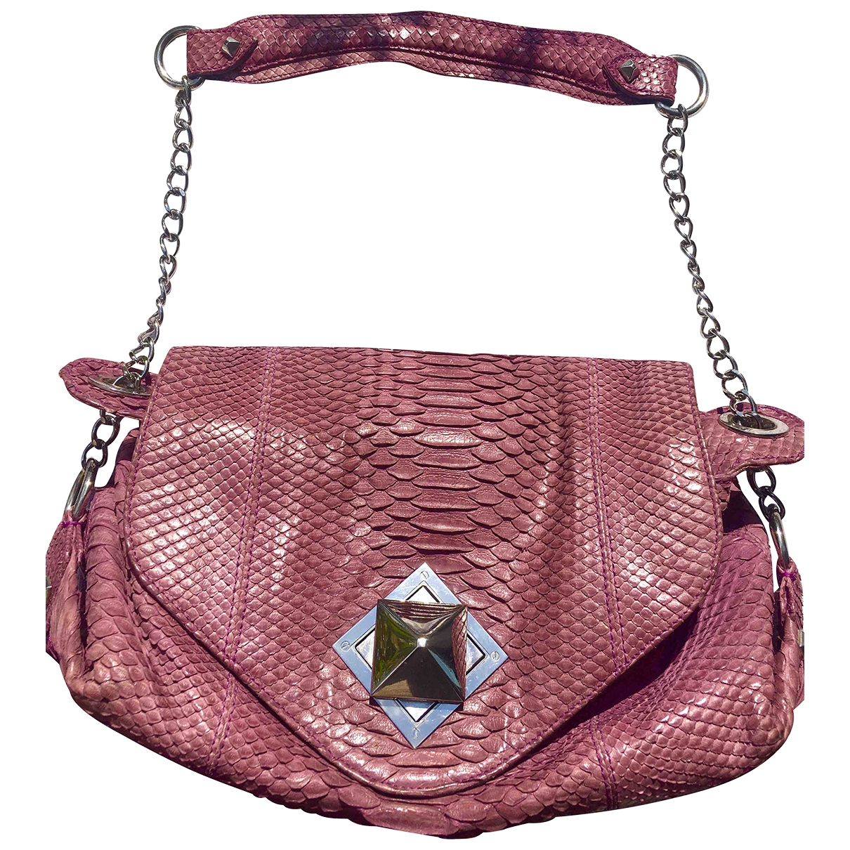 Sonia Rykiel \N Pink Python handbag for Women \N