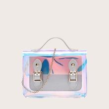 Maedchen Holographische Handtasche mit Kette