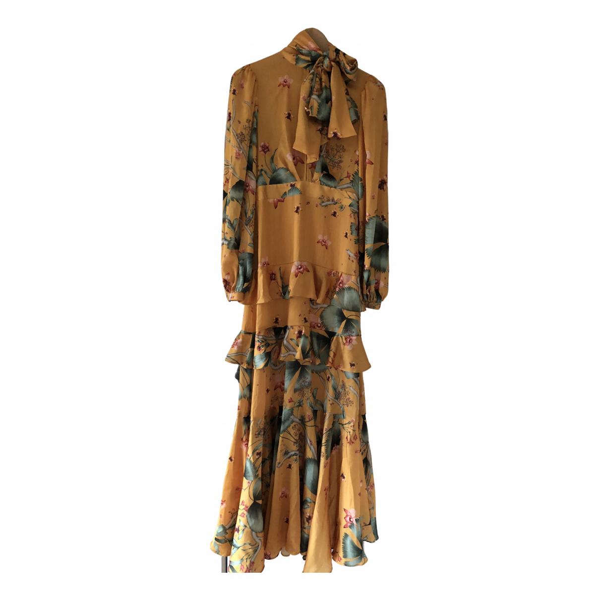 Johanna Ortiz X H&m \N Kleid in  Gelb Synthetik