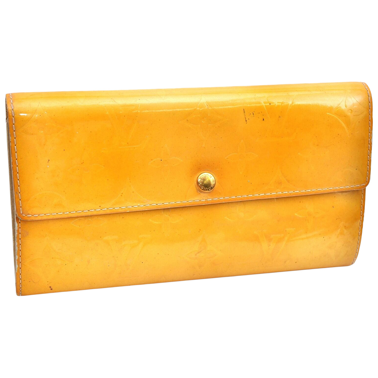 Louis Vuitton N Yellow Patent leather wallet for Women N