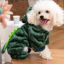 Hund Jumpsuit mit Dinosaurier Design