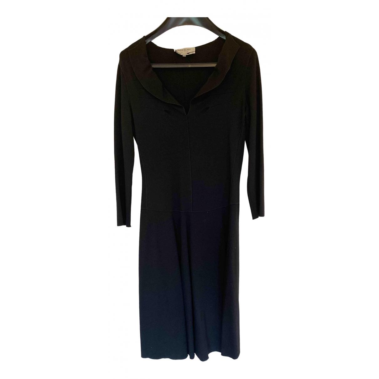 Yves Saint Laurent \N Kleid in  Schwarz Viskose