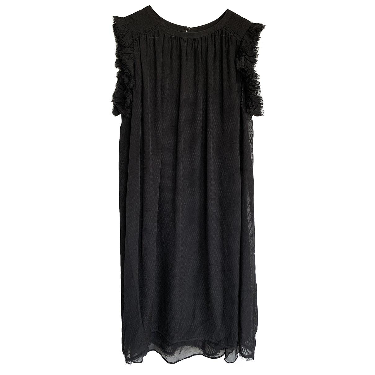 Zadig & Voltaire - Robe   pour femme en soie - noir