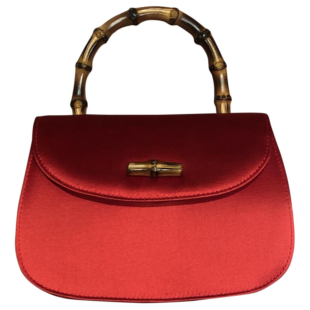 Gucci - Sac a main   pour femme en soie - rouge