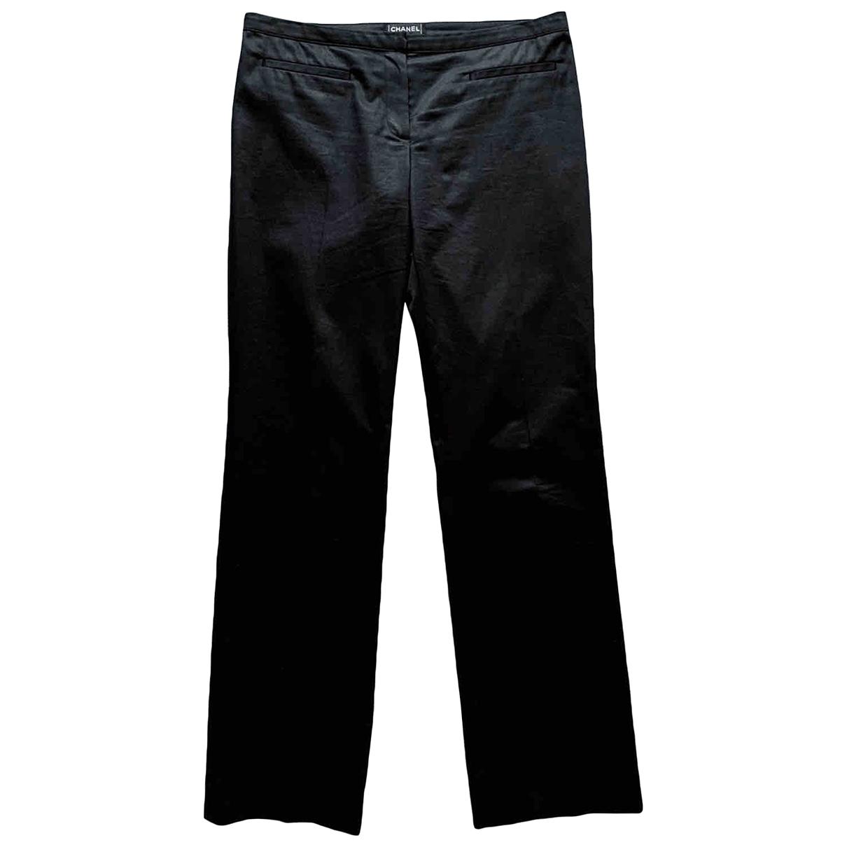 Chanel \N Black Cotton Trousers for Men M International