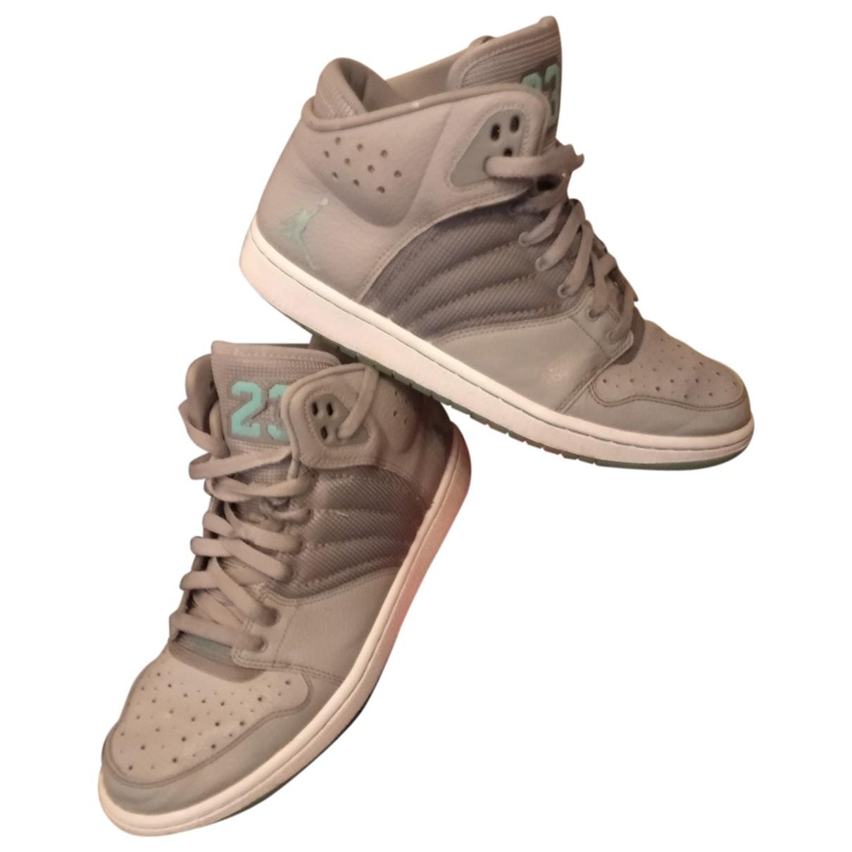 Jordan - Baskets Air Jordan 3 pour homme en cuir - gris