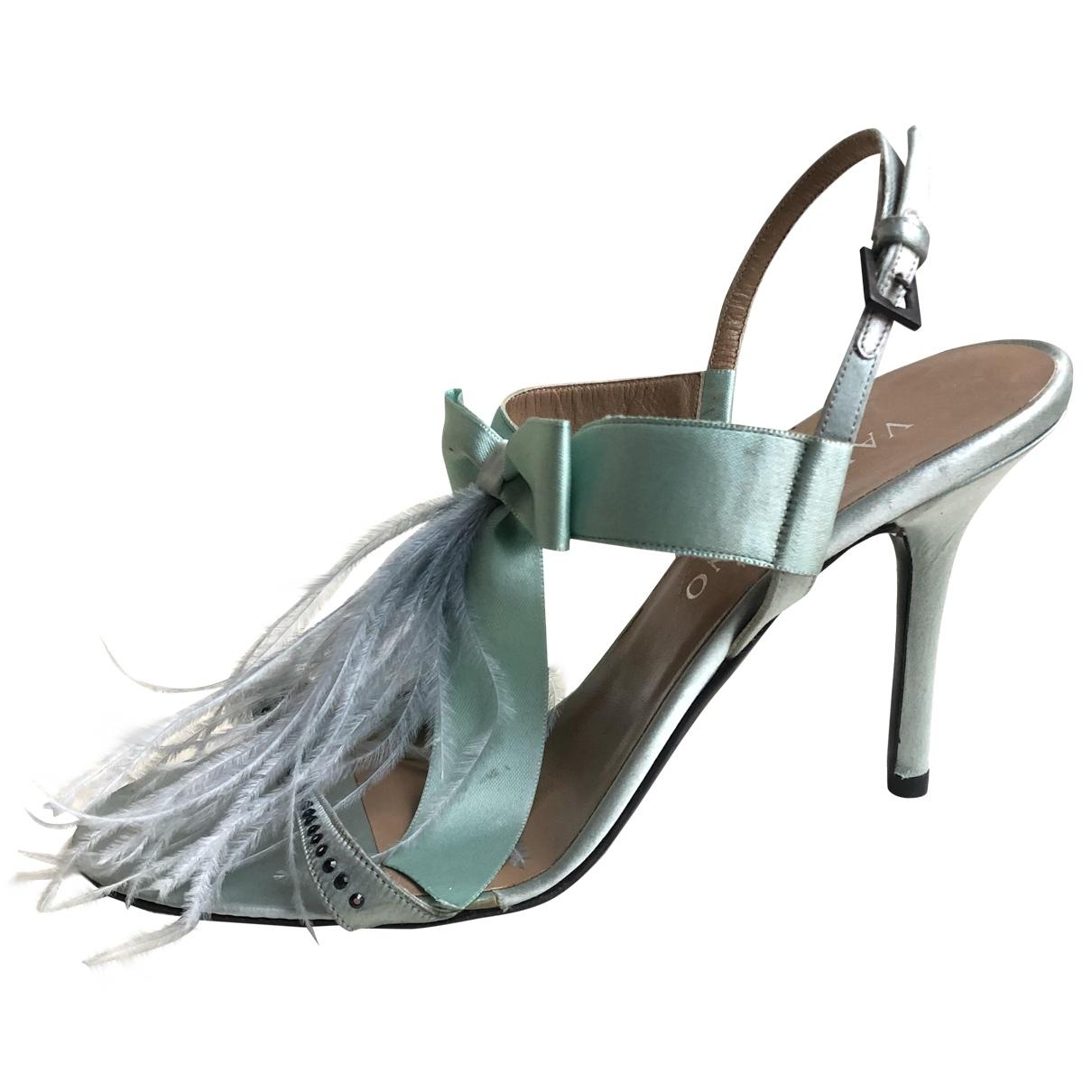 Valentino Garavani \N Turquoise Cloth Sandals for Women 36.5 EU