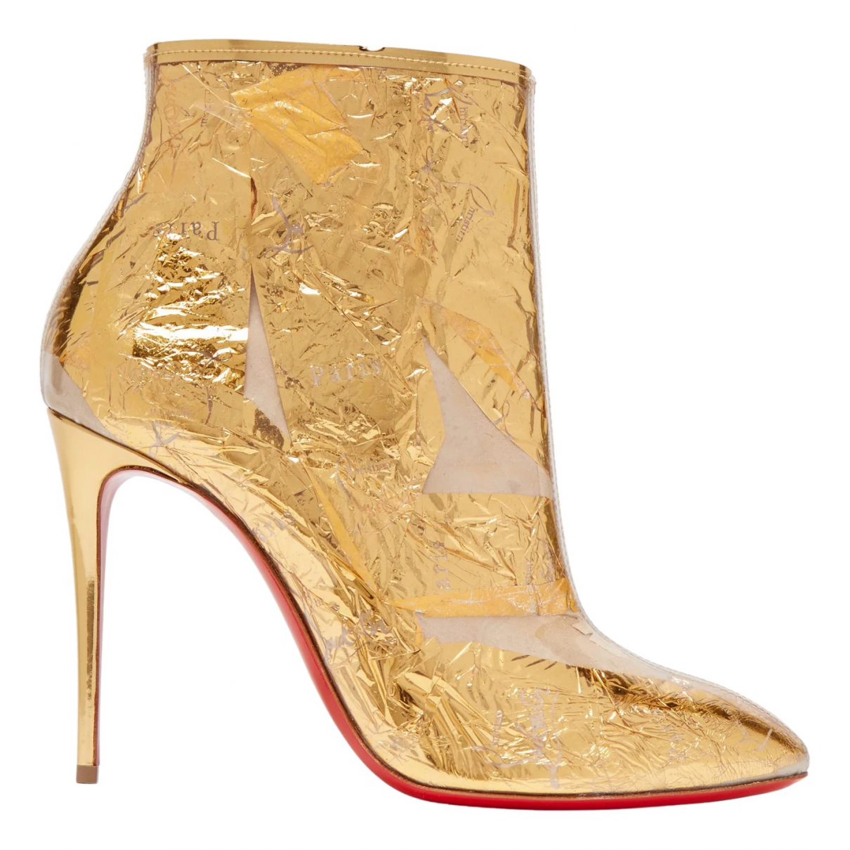 Christian Louboutin \N Gold Leather Ankle boots for Women 37 EU