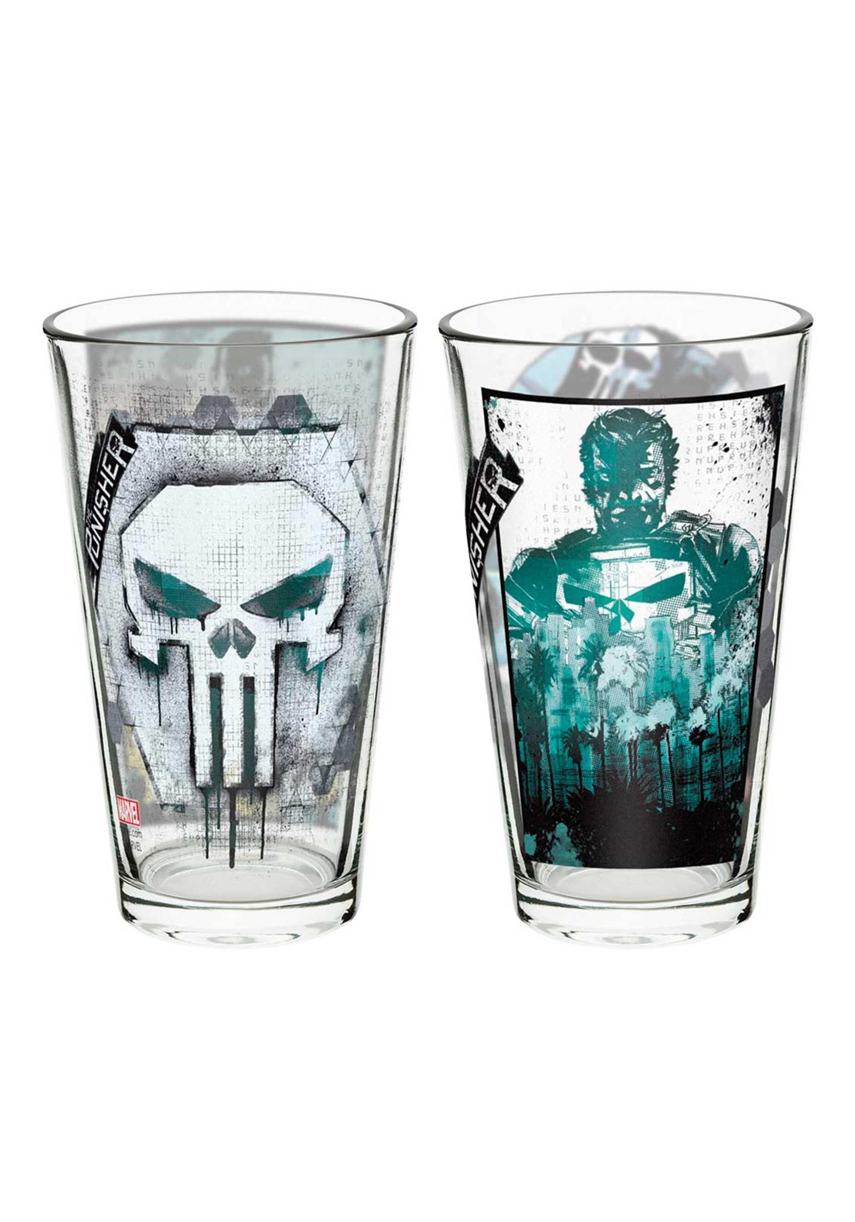 Marvel Punisher 2 Piece Glass Tumbler Set