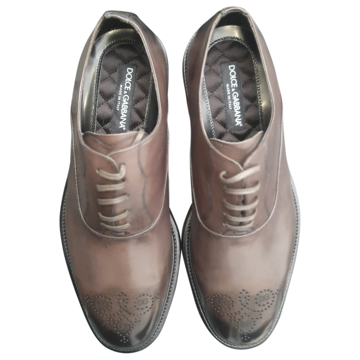 Dolce & Gabbana \N Grey Leather Lace ups for Men 44 EU