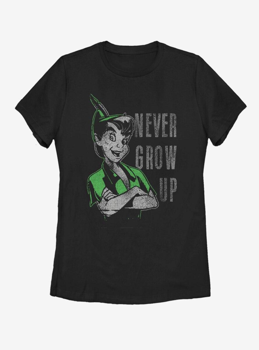 Disney Peter Pan Don't Grow Womens T-Shirt