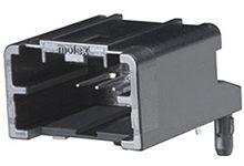 Molex , 34793 Automotive Connector Socket 1 Row 4 Way, Solder Termination, Black (1656)