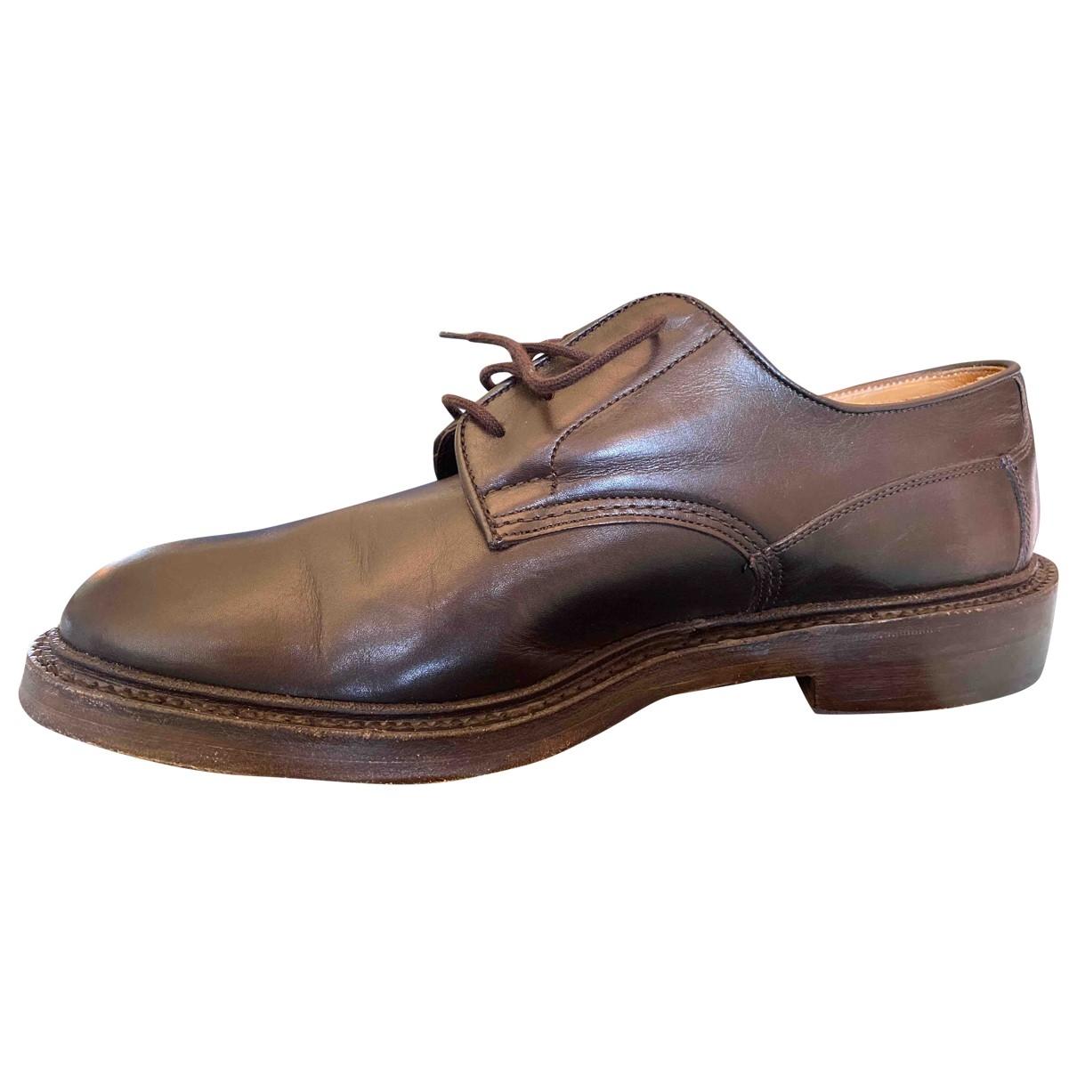 Trickers London - Derbies   pour homme en cuir - marron