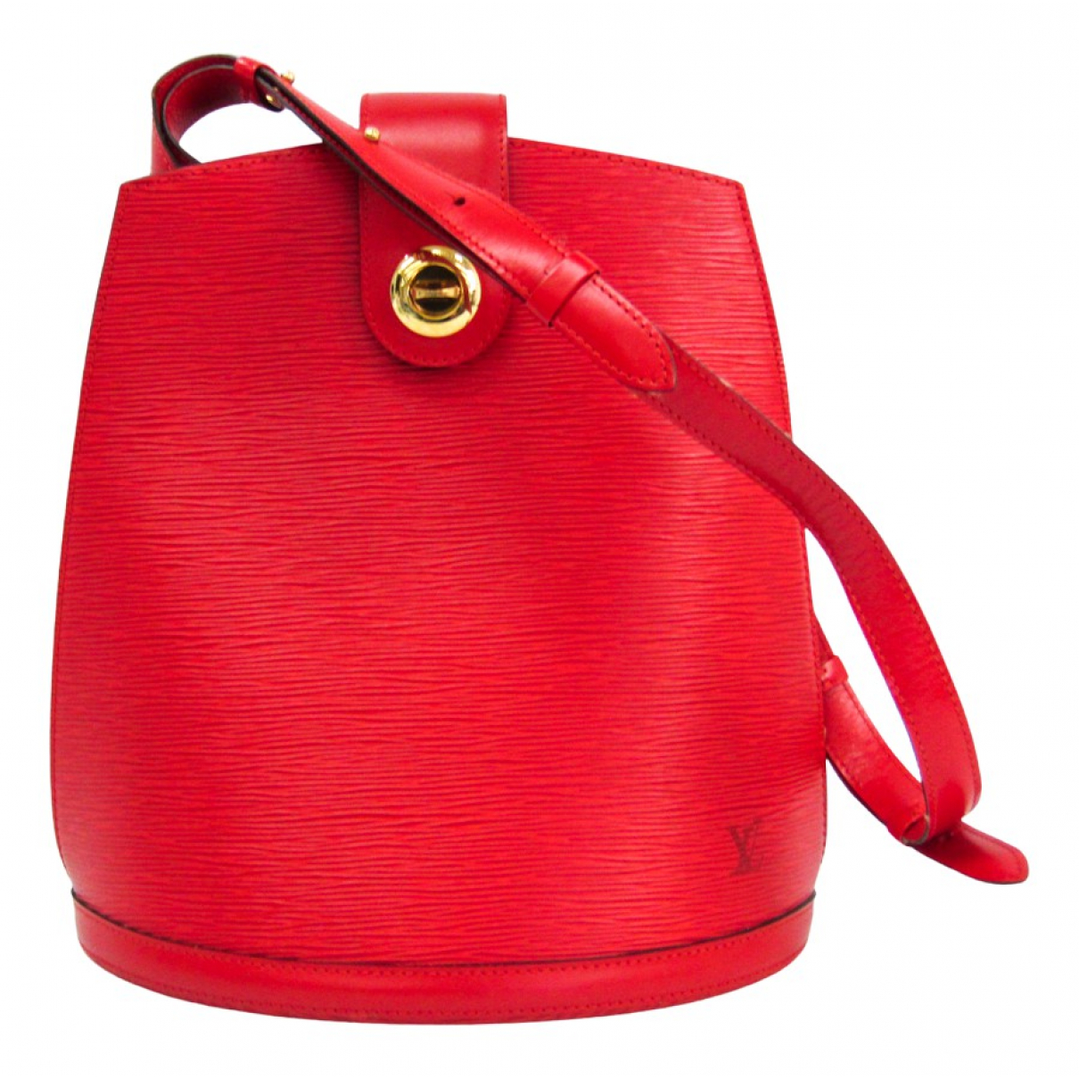 Louis Vuitton Cluny Vintage Red Leather handbag for Women N