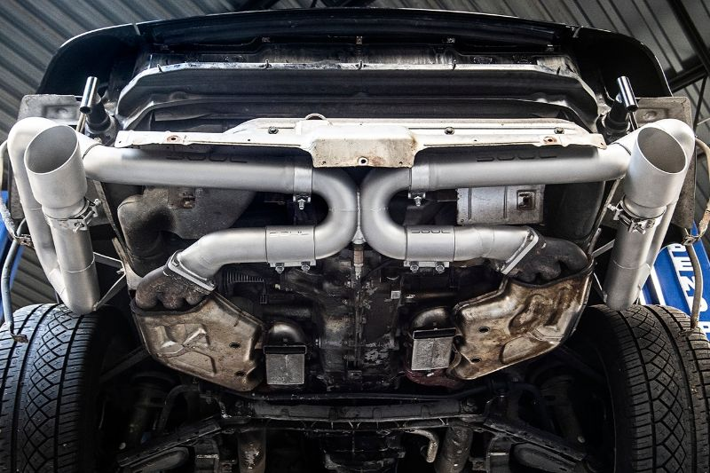 Soul Performance Competition Muffler Bypass Exhaust Brushed Tips Porsche 993 Carrera 94-96  (OBD1)