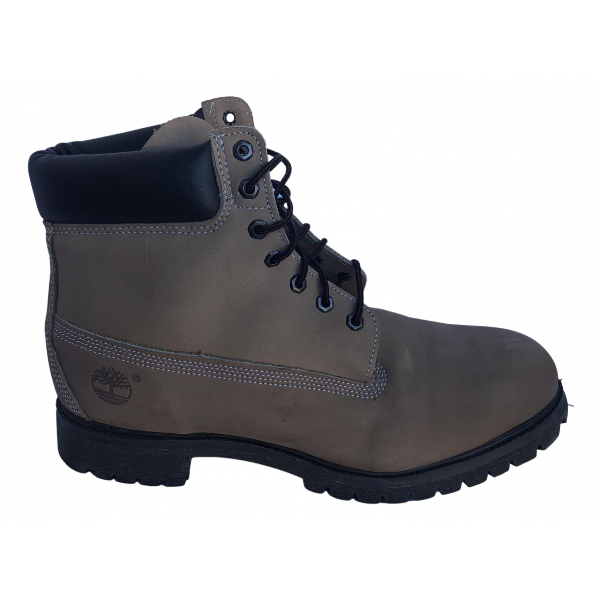 Timberland N Khaki Leather Boots for Men 47 EU