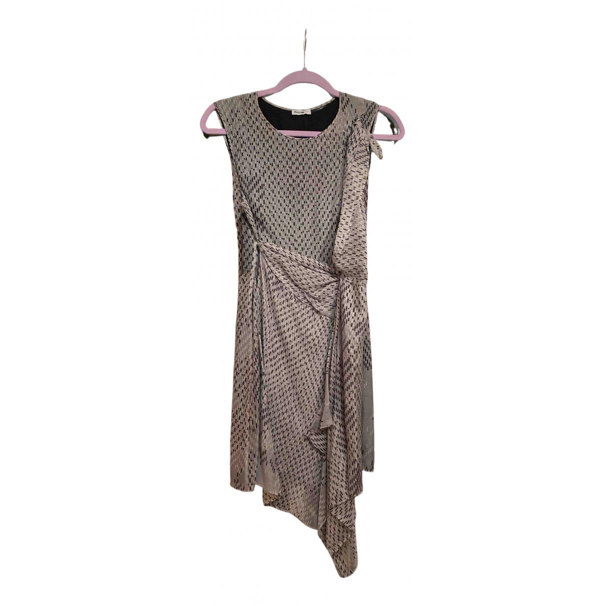 Pollini N Grey Silk dress for Women 8 UK