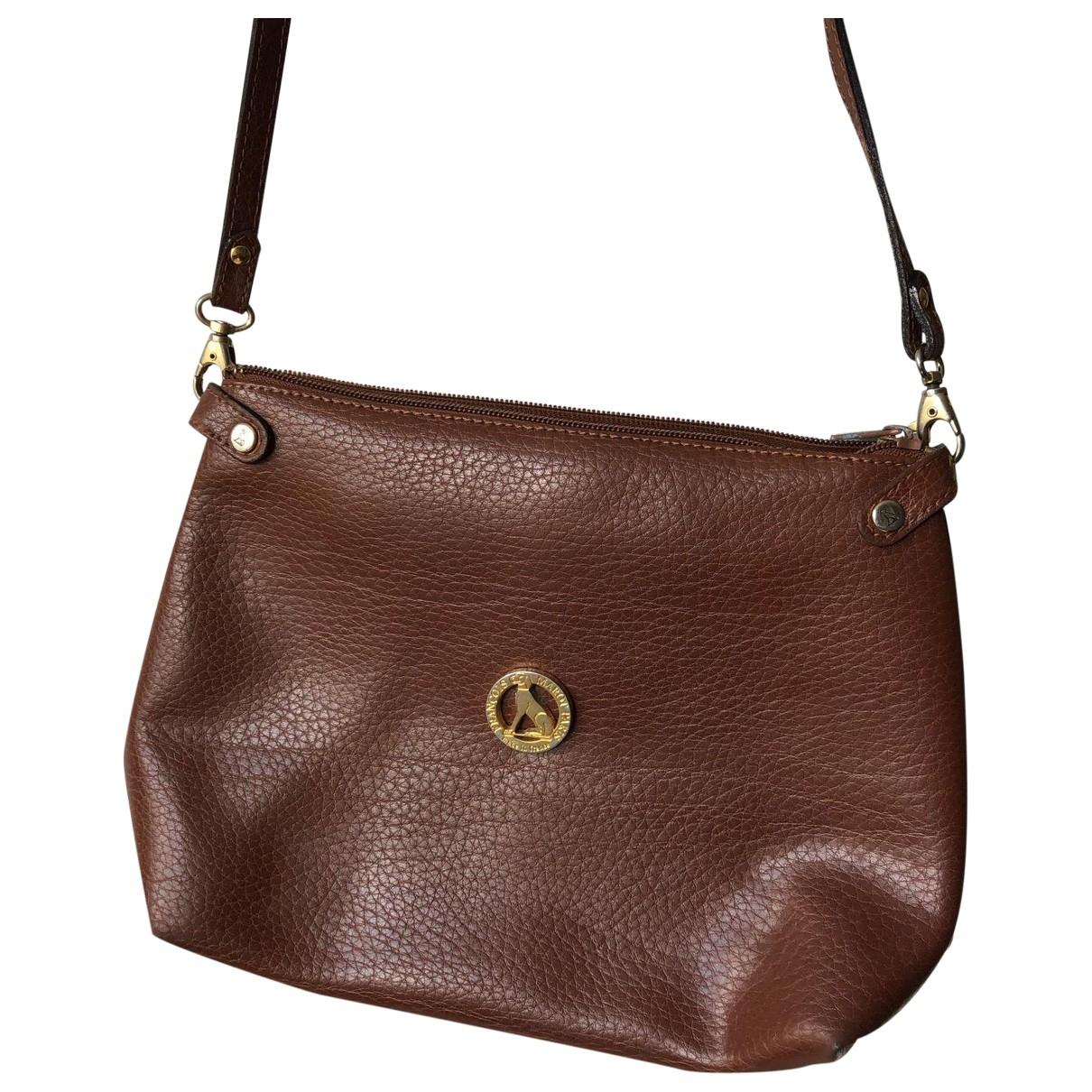 François Marot Paris \N Brown Leather handbag for Women \N