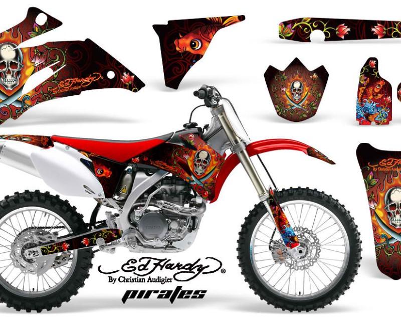 AMR Racing Dirt Bike Graphics Kit Decal Wrap For Yamaha YZ250F YZ450F 2006-2009áEDHP RED