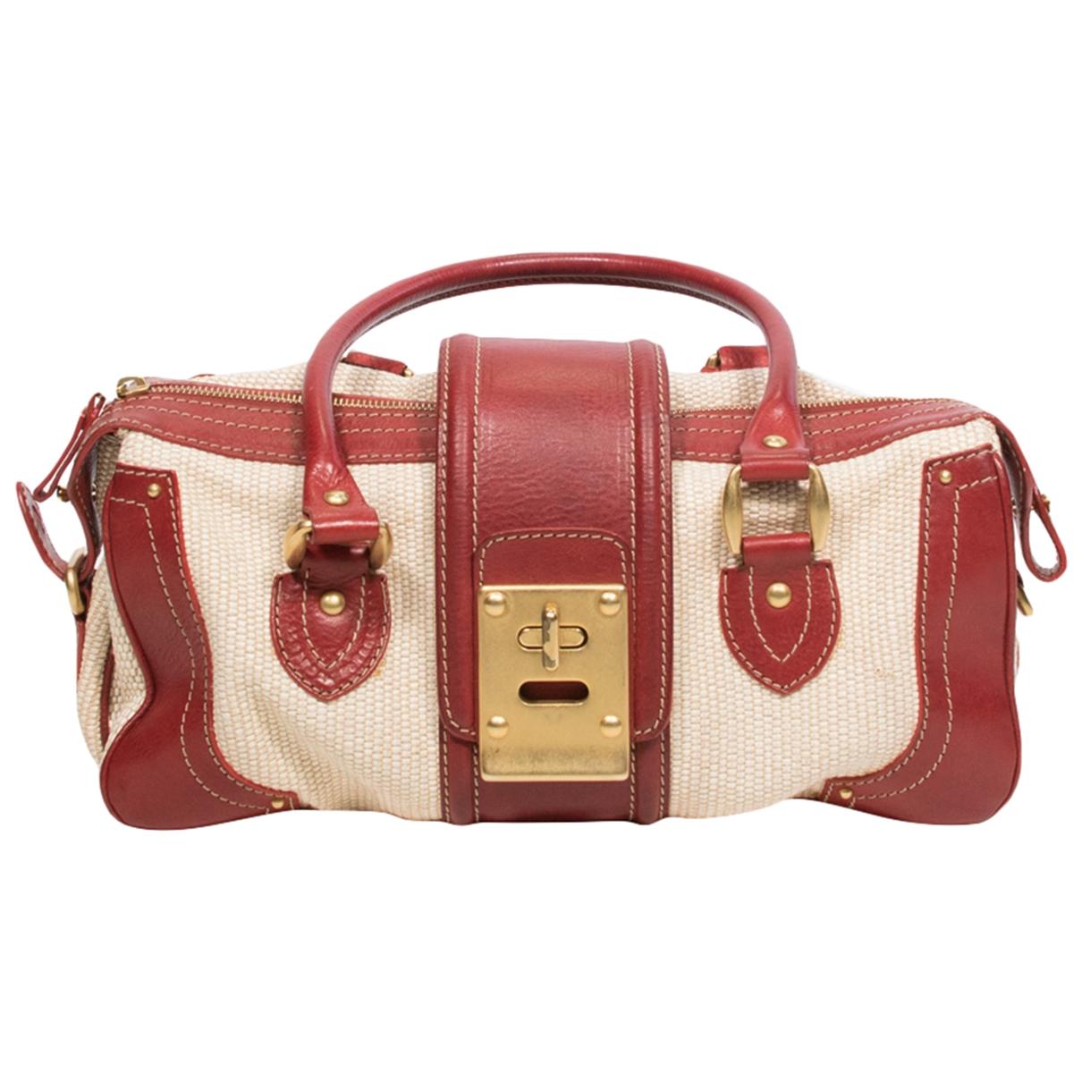 Valentino Garavani \N Handtasche in  Beige Leinen