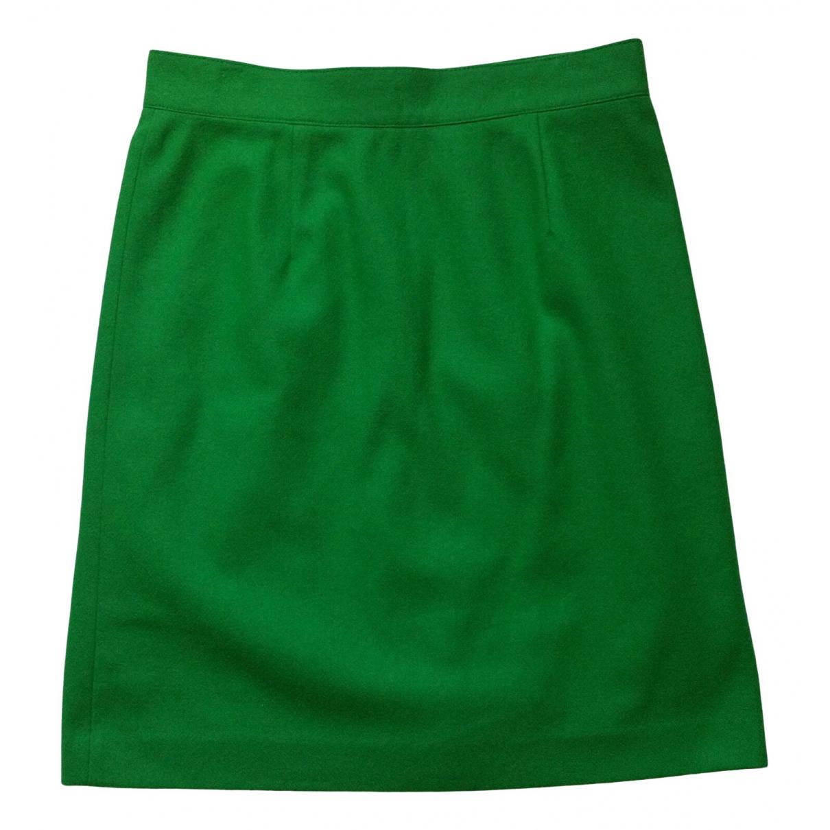 Benetton - Jupe   pour femme en laine - vert