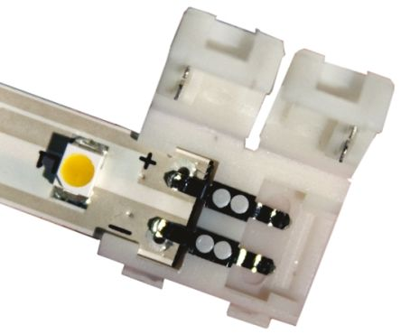 JKL Components ZFS Series, 2 Pole 2 Way Coupler, In-line, 24 V dc, White (5)