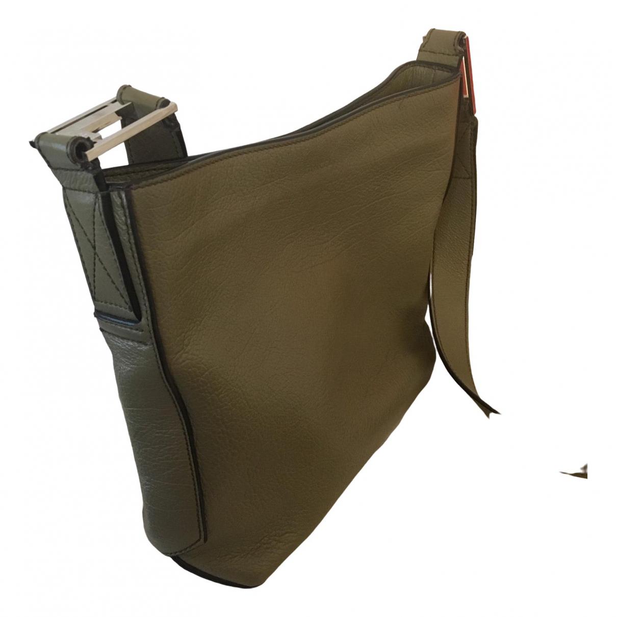 Lancel \N Khaki Leather handbag for Women \N