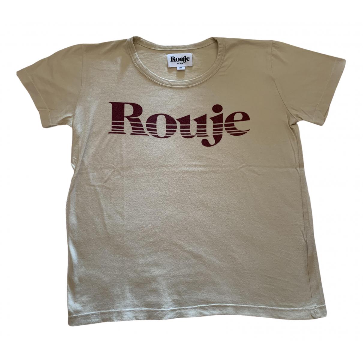 Rouje \N Ecru Cotton  top for Women 38 FR