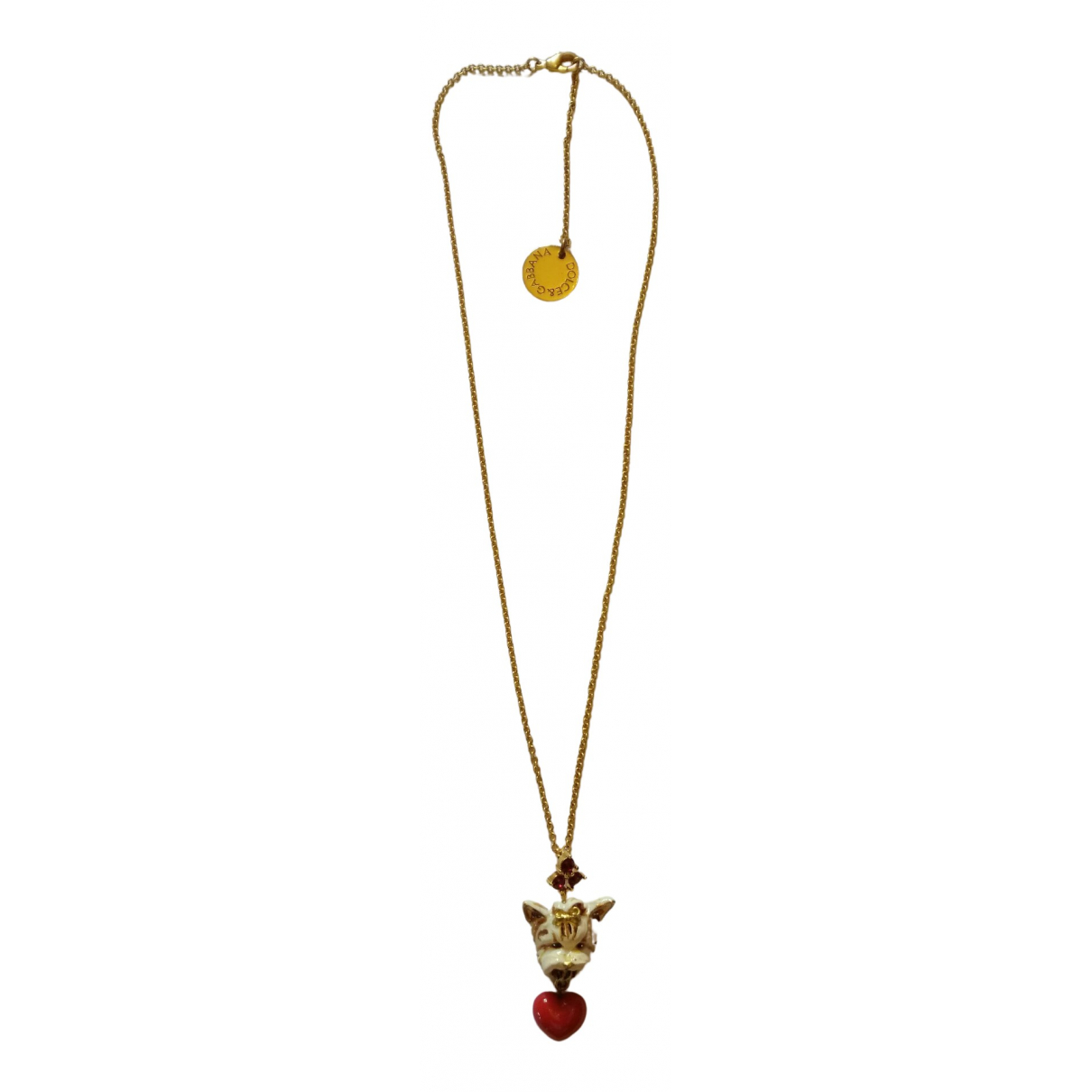 Dolce & Gabbana N Gold Crystal necklace for Women N