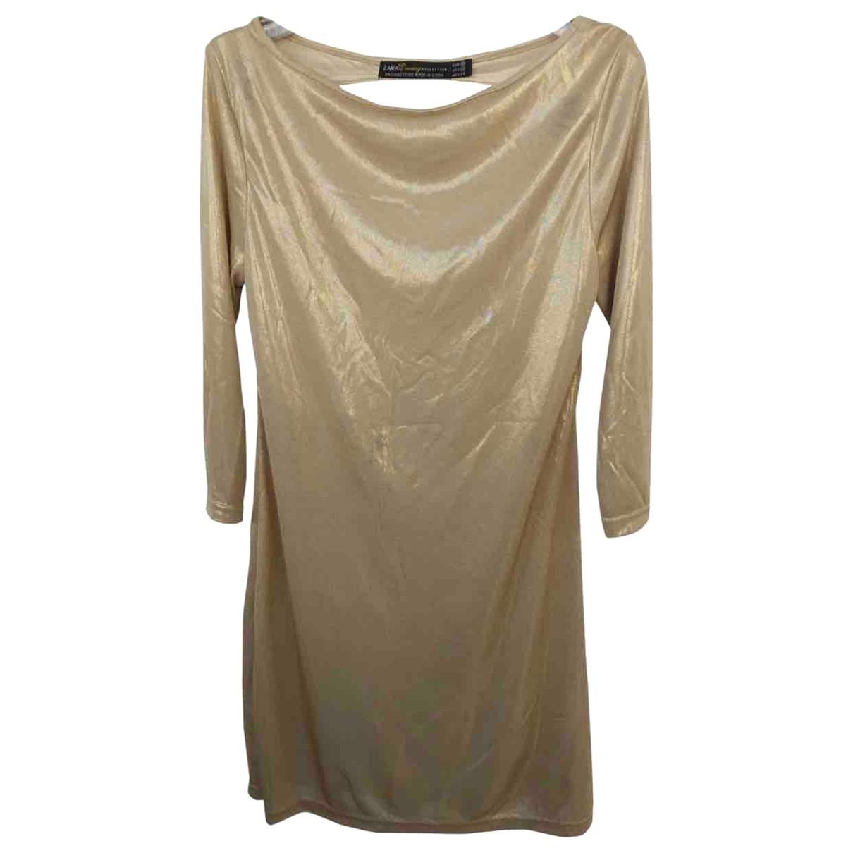 Zara \N Gold dress for Women M International
