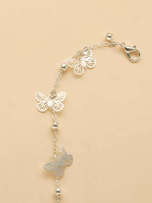 Girls Butterfly Charm Anklet
