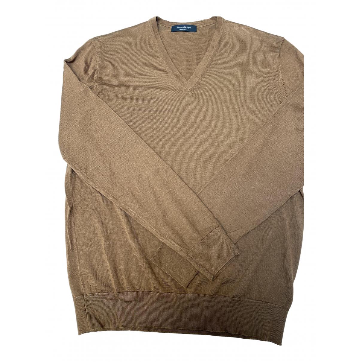 Ermenegildo Zegna \N Pullover.Westen.Sweatshirts  in  Kamel Kaschmir