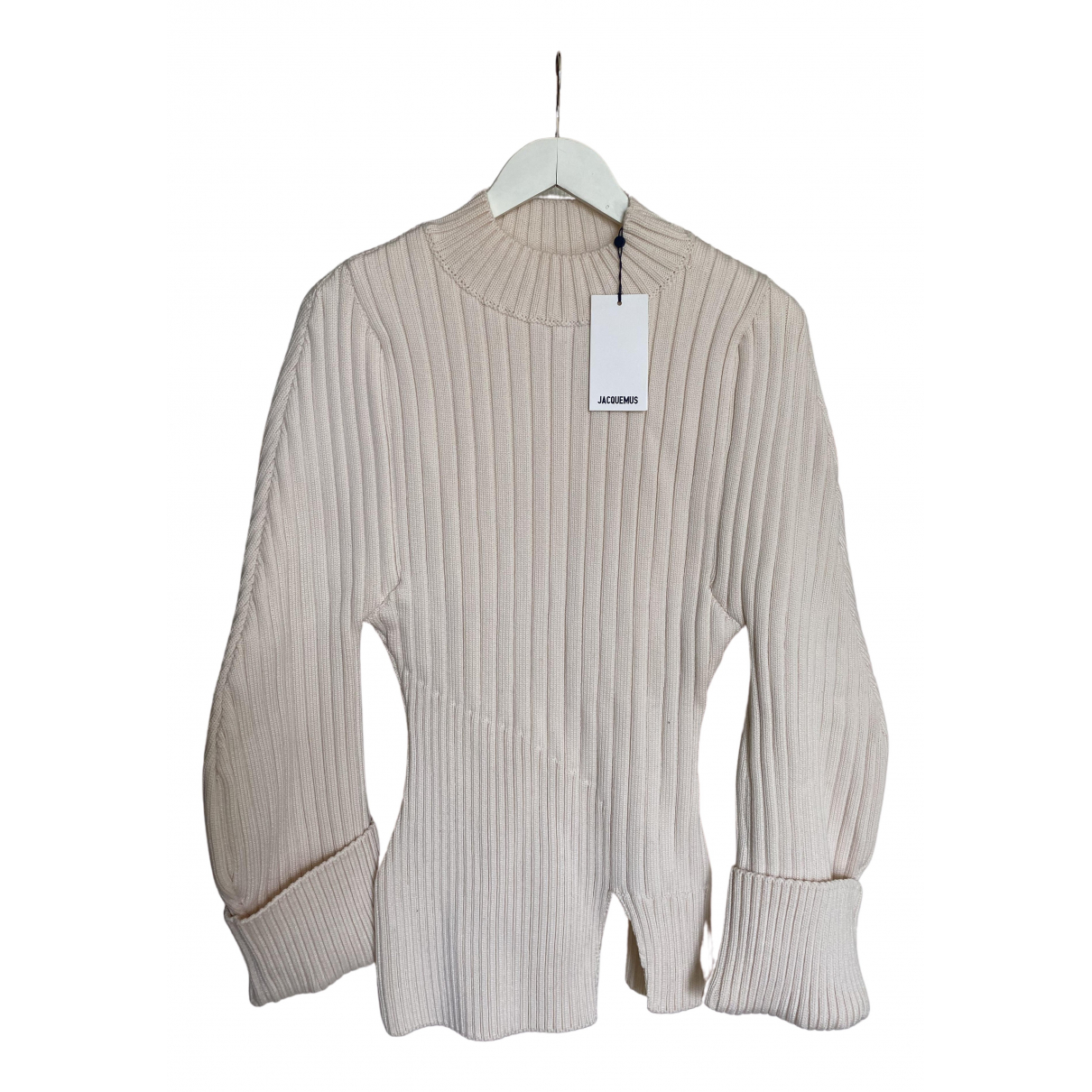 Jacquemus La Maille Pablo Pullover in  Weiss Wolle