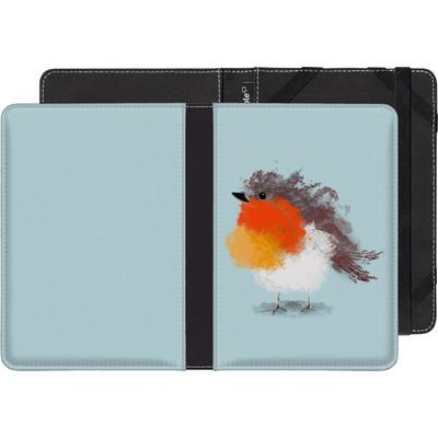 Kobo Glo eBook Reader Huelle - Cloudy Robin von caseable Designs
