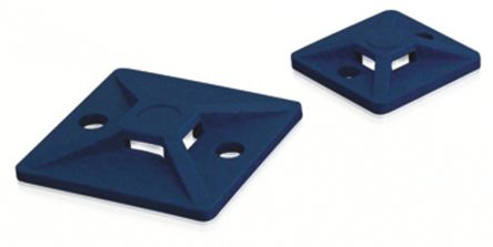 HellermannTyton Blue Cable Tie Mount 19 mm x 19mm, 4.1mm Max. Cable Tie Width
