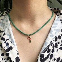 Weihnachten Halskette mit Stock Anhaenger