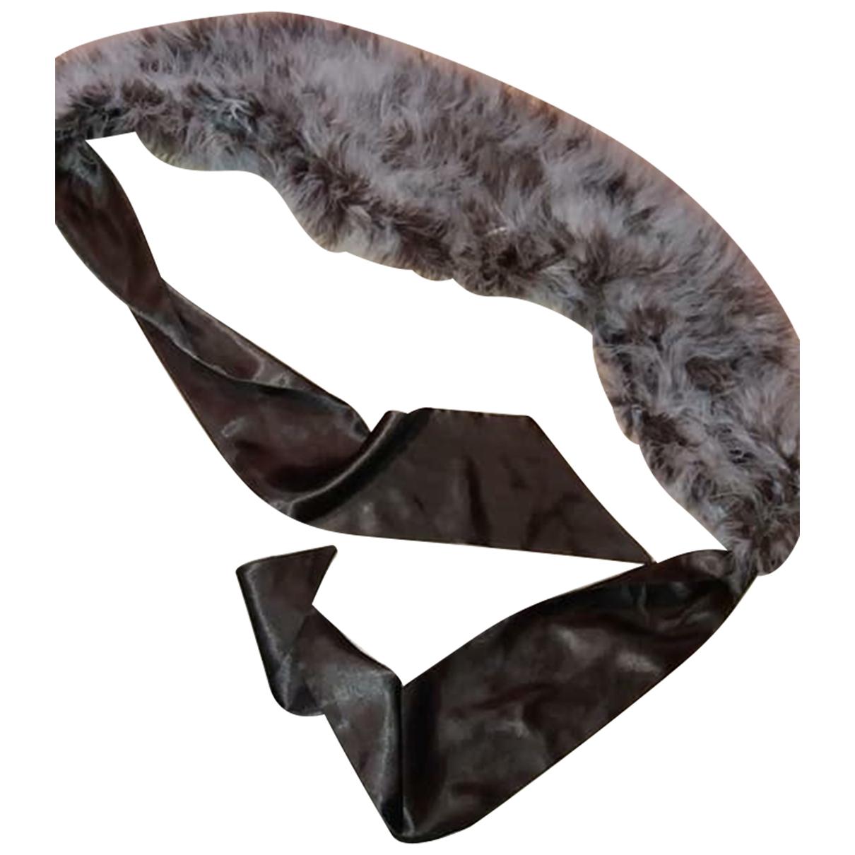 Oakwood N Brown Fur scarf for Women N