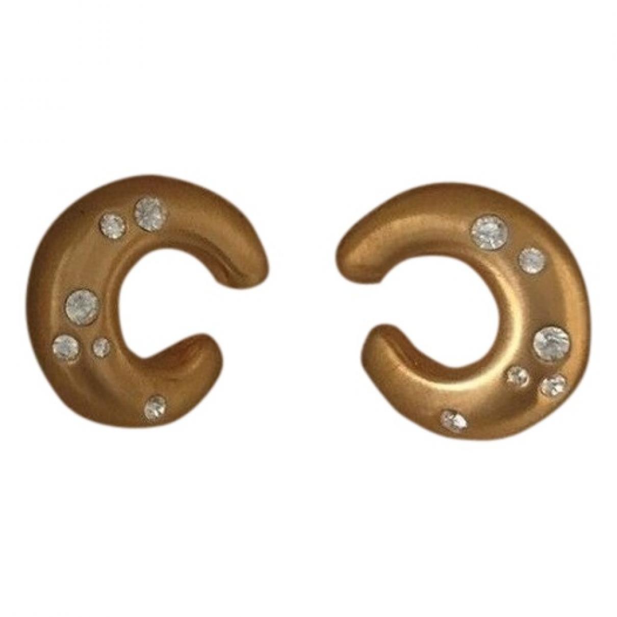 Balmain - Boucles doreilles   pour femme en plaque or