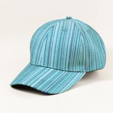 Baseball Kappe mit Streifen Muster