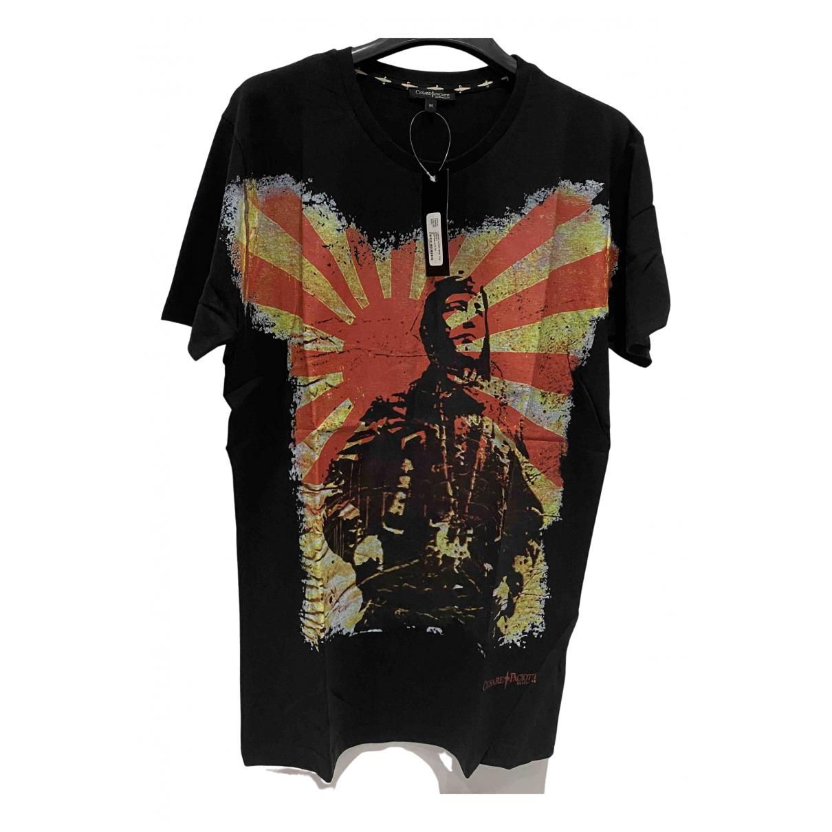 Cesare Paciotti - Tee shirts   pour homme en coton - noir
