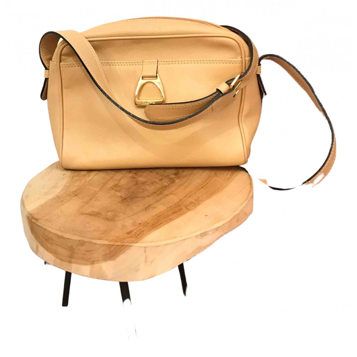 Lancel N Beige Leather handbag for Women N