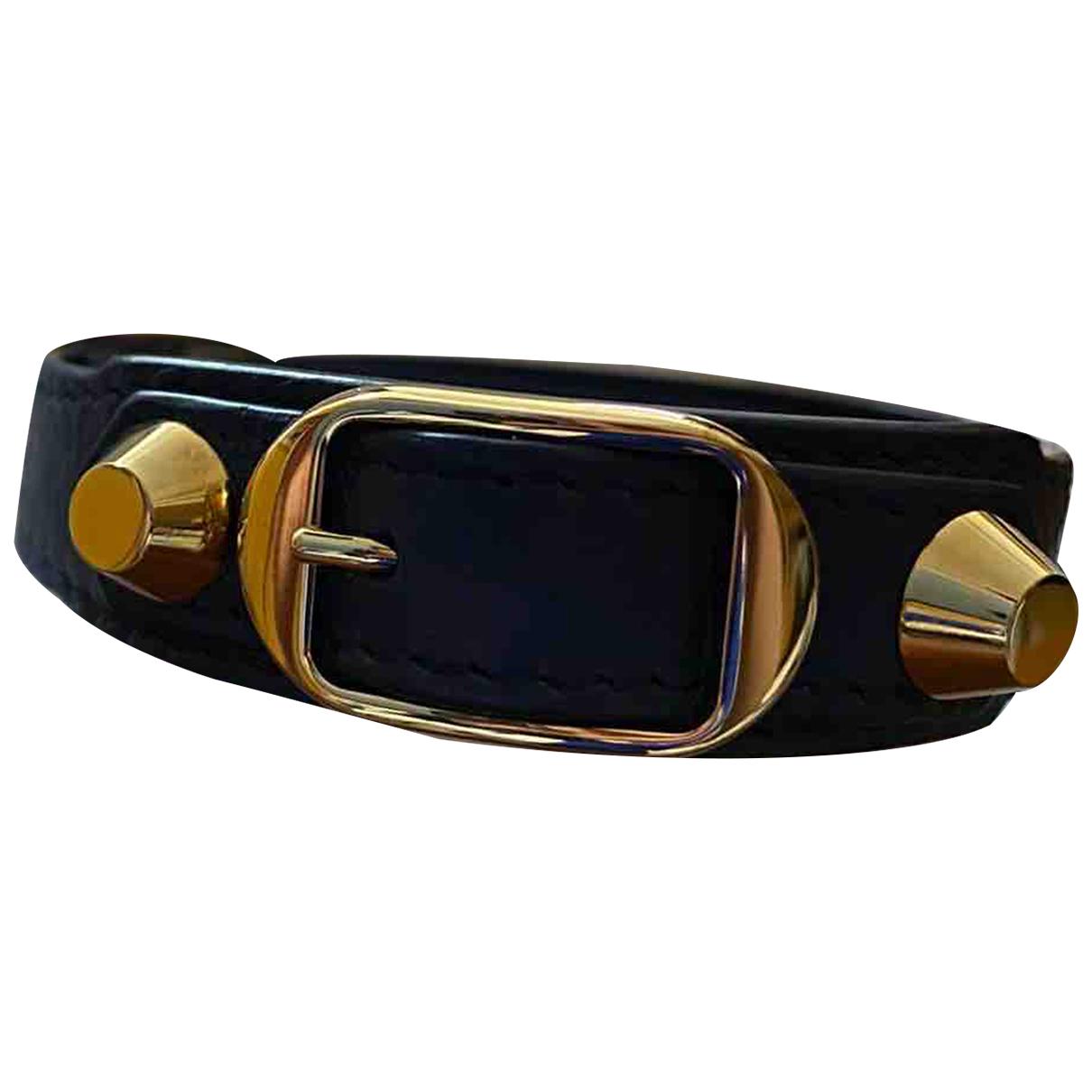 Balenciaga - Bracelet   pour femme en cuir - marine