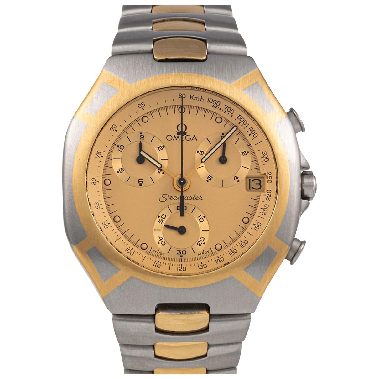 Omega - Montre Seamaster pour homme en or et acier - dore