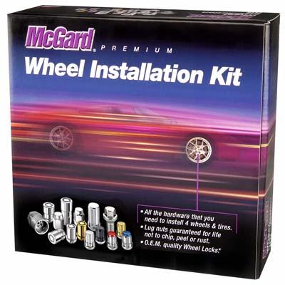 McGard 65557RC SplineDrive Tuner 5 Lug Install Kit w/Tool (Cone) M12X1.5 / 13/16 Hex / 1.24in. L - Red Cap