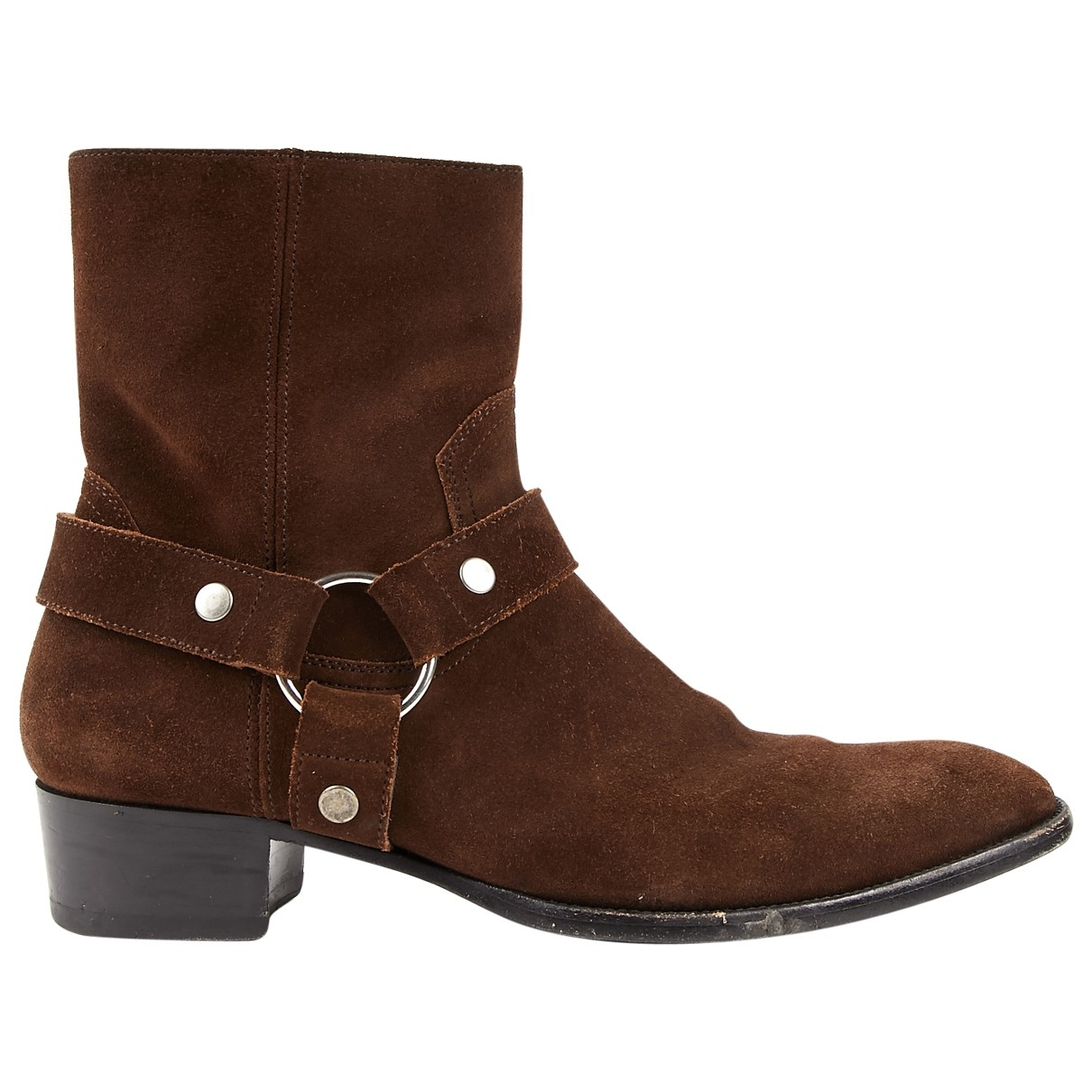 Saint Laurent \N Brown Suede Ankle boots for Women 41 EU