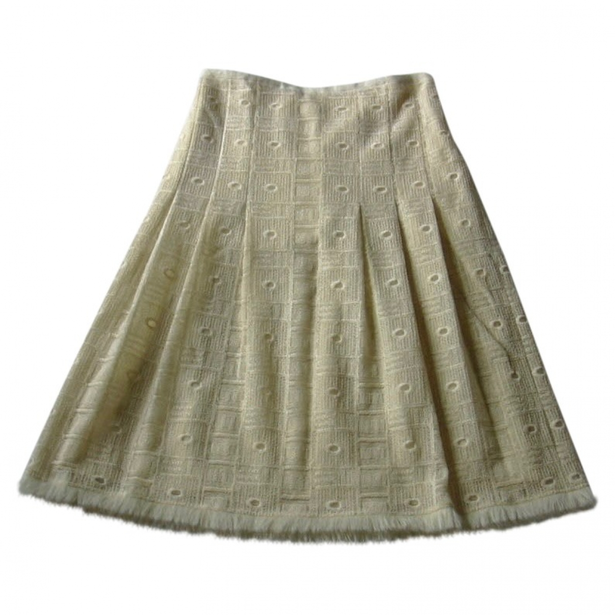 Paule Ka - Jupe   pour femme en laine - ecru