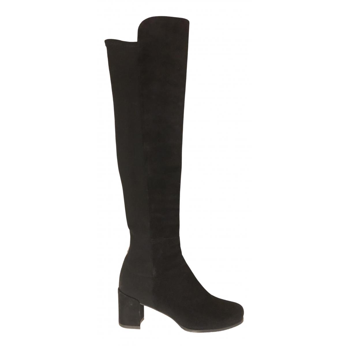 Stuart Weitzman \N Black Leather Boots for Women 38.5 EU
